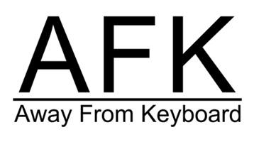 AFK T-Shirt, Clothing, Mug