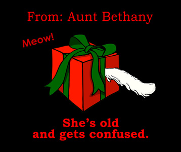 Aunt Bethany's Cat in a Box T-Shirt, Clothing, Mug