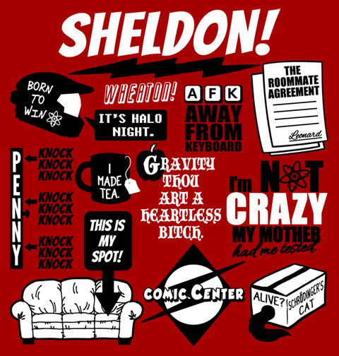 Sheldon Quotes T-Shirt, Clothing, Mug