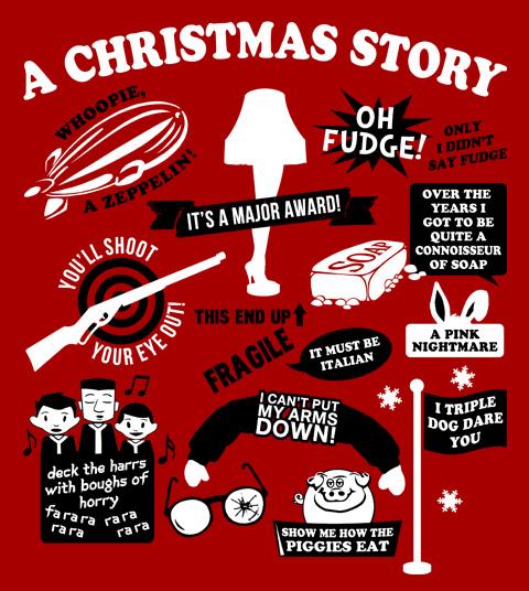 A Christmas Story Quotes T-Shirt, Clothing, Mug