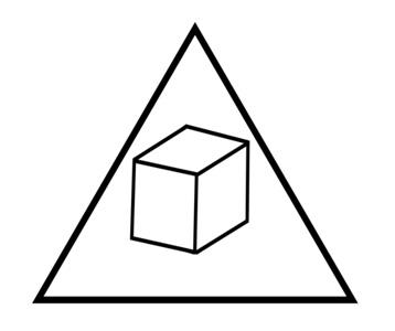 Delta Cubes T-Shirt, Clothing, Mug