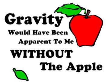 Gravity Apple Big Bang Theory T-Shirt, Clothing, Mug