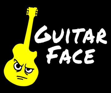 Guitar Face T-Shirt, Clothing, Mug