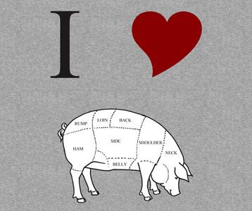 I Love Pig T-Shirt, Clothing, Mug
