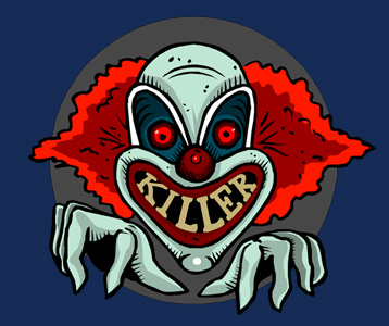 Killer Clown T-Shirt, Clothing, Mug