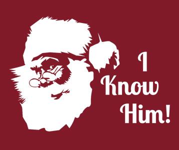 Santa I Know Him Elf T-Shirt, Clothing, Mug