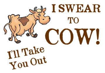 Swear To Cow Big Bang Theory T-Shirt, Clothing, Mug