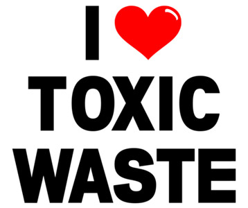 I Heart Toxic Waste T-Shirt, Clothing, Mug