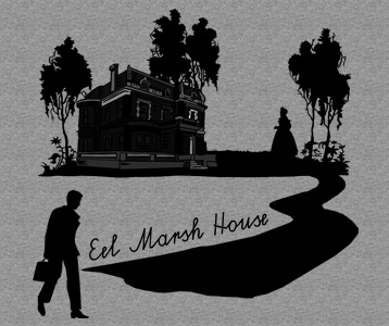 Eel Marsh House in Black T-Shirt, Clothing, Mug